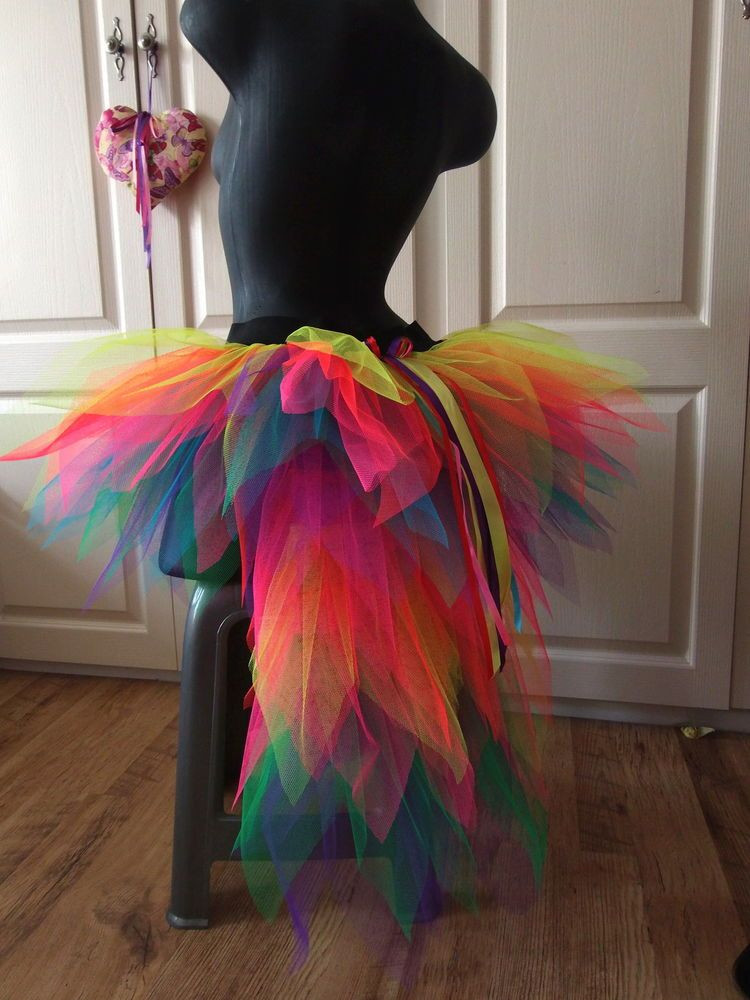 Best ideas about DIY Carnival Costume . Save or Pin La s bustle TUTU Carnival 8 14 NEON MULTi festival SKIRT Now.