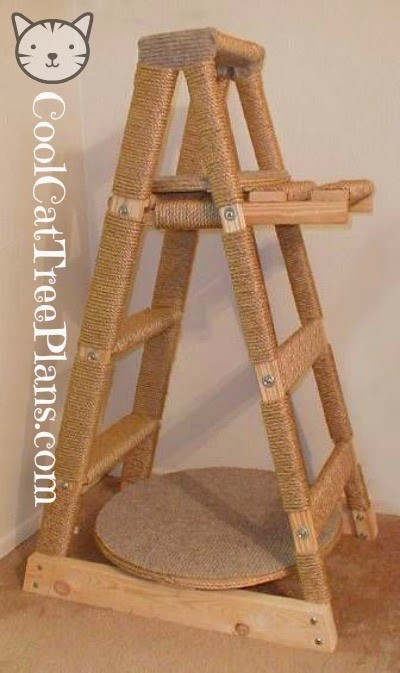 Best ideas about DIY Cat Scratching Post Plans . Save or Pin Cool Cat Tree Plans Free Cat Tree Plans Now.
