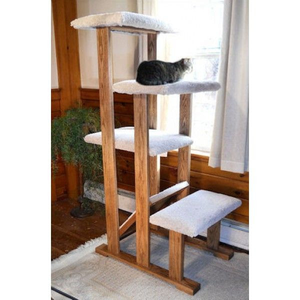 Best ideas about DIY Cat Scratching Post Plans . Save or Pin Solid Wood Quad Perch Cat Tree Cats Now.