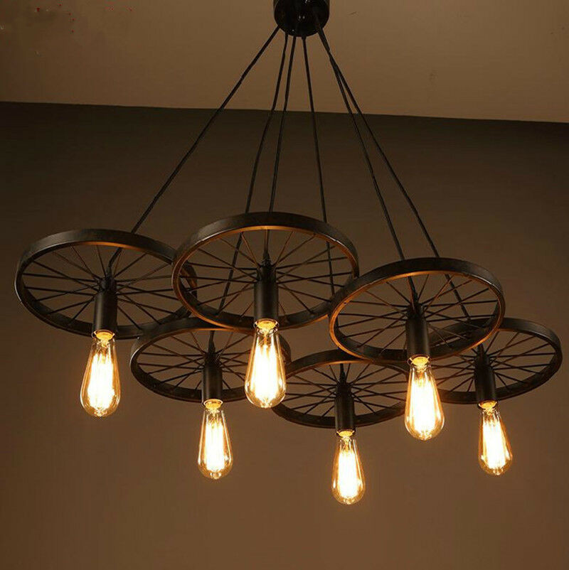 Best ideas about DIY Ceiling Lighting . Save or Pin New DIY Loft retro Iron Bicycle Wheels pendant lights Now.