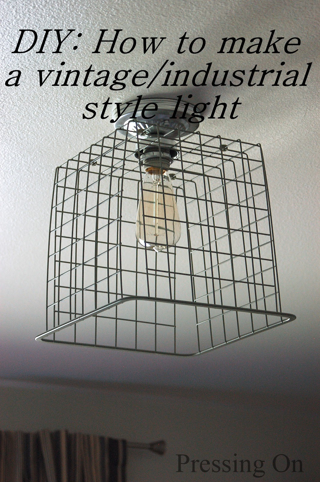 Best ideas about DIY Ceiling Lighting . Save or Pin Pressing DIY Vintage Industrial Style Ceiling Light Now.
