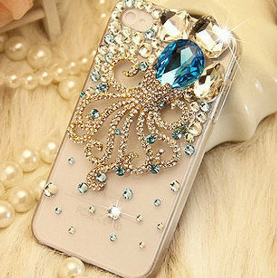 Best ideas about DIY Cell Phone Case . Save or Pin Items similar to Gemstone Octopus DIY phone case set DIY Now.