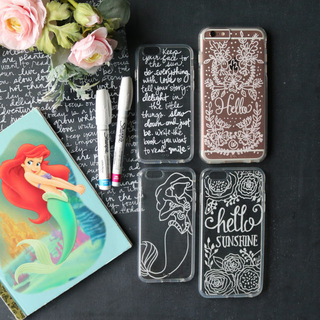 Best ideas about DIY Cell Phone Case . Save or Pin DIY hand lettering on cell phone case – Makeful Now.