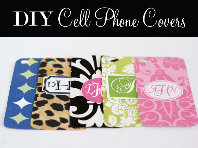 Best ideas about DIY Cell Phone Case . Save or Pin DIY Monogrammed Cell Phone Covers Now.