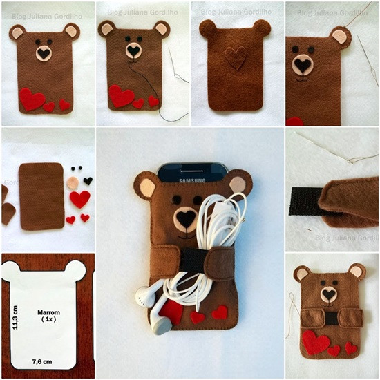 Best ideas about DIY Cell Phone Case . Save or Pin Wonderful DIY Sewing Ipad phone Case Stand Now.
