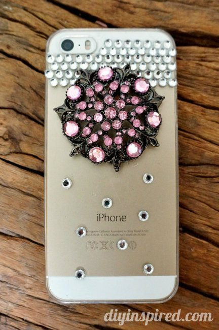 Best ideas about DIY Cell Phone Case . Save or Pin Repurposed Brooch DIY Cell Phone Case DIY Inspired Now.