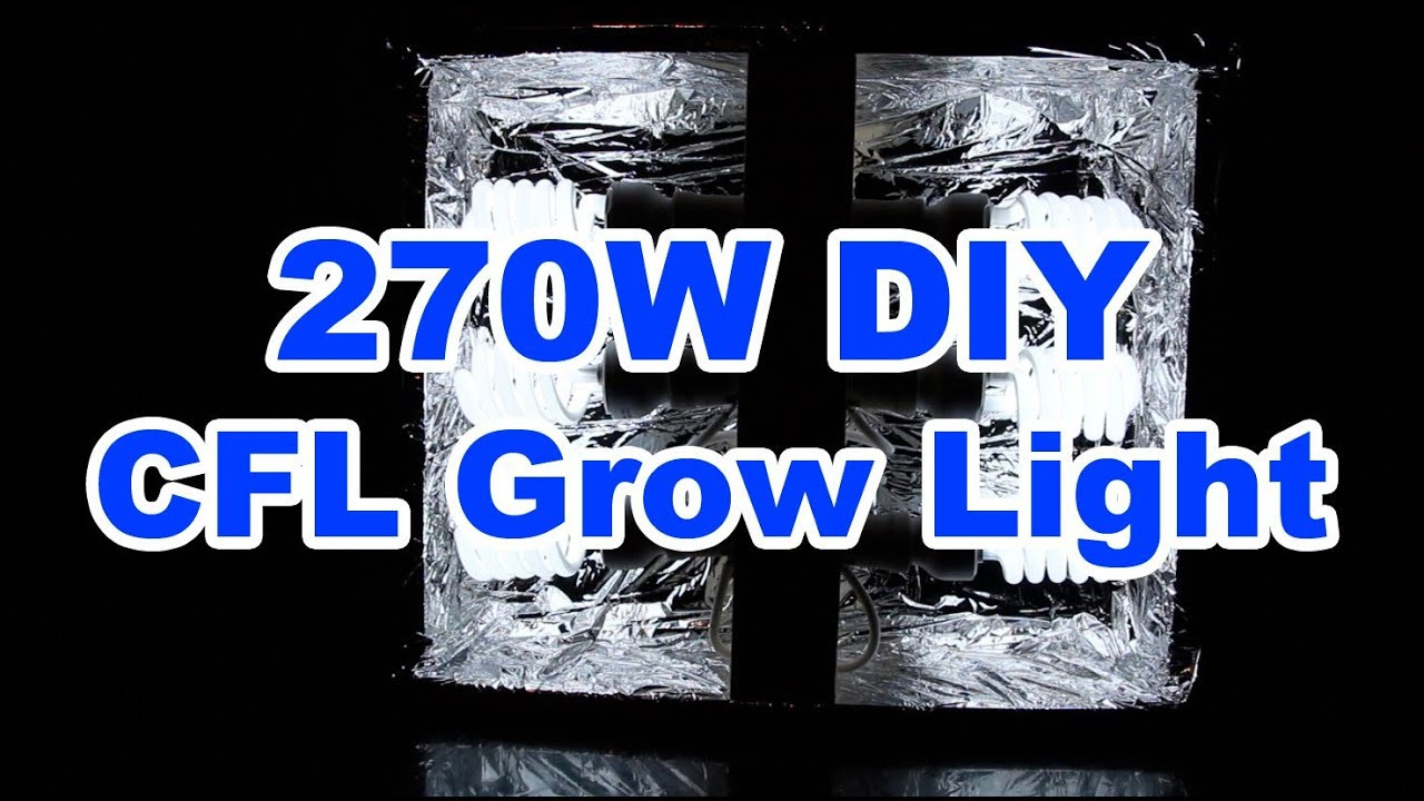 Best ideas about DIY Cfl Grow Light . Save or Pin 270w DIY CFL Grow Light $52 How to build it Now.