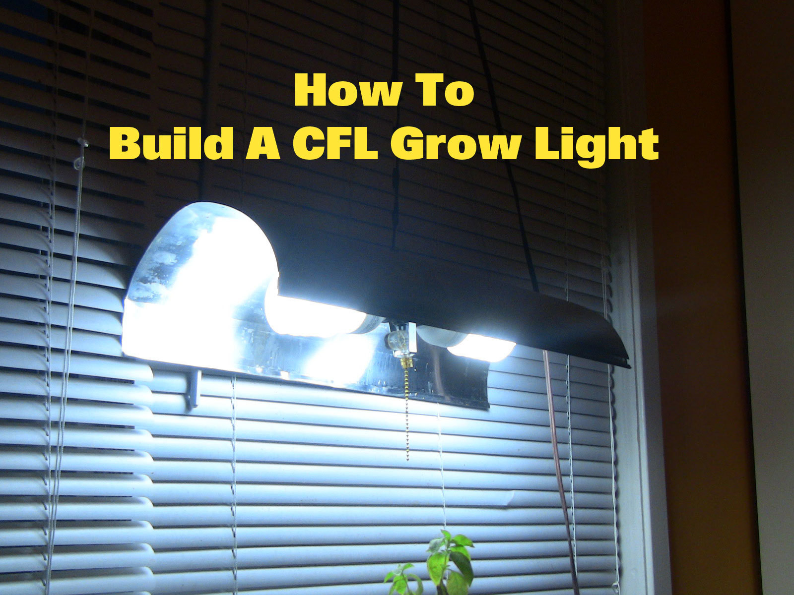 Best ideas about DIY Cfl Grow Light . Save or Pin How To Make A CFL Grow Light All Now.