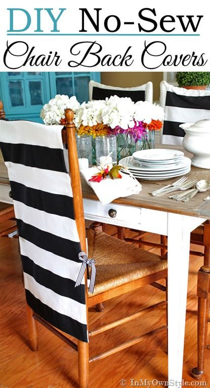 Best ideas about DIY Chair Covers No Sew . Save or Pin Diy Dining Chair Slipcover No Sew WoodWorking Projects Now.