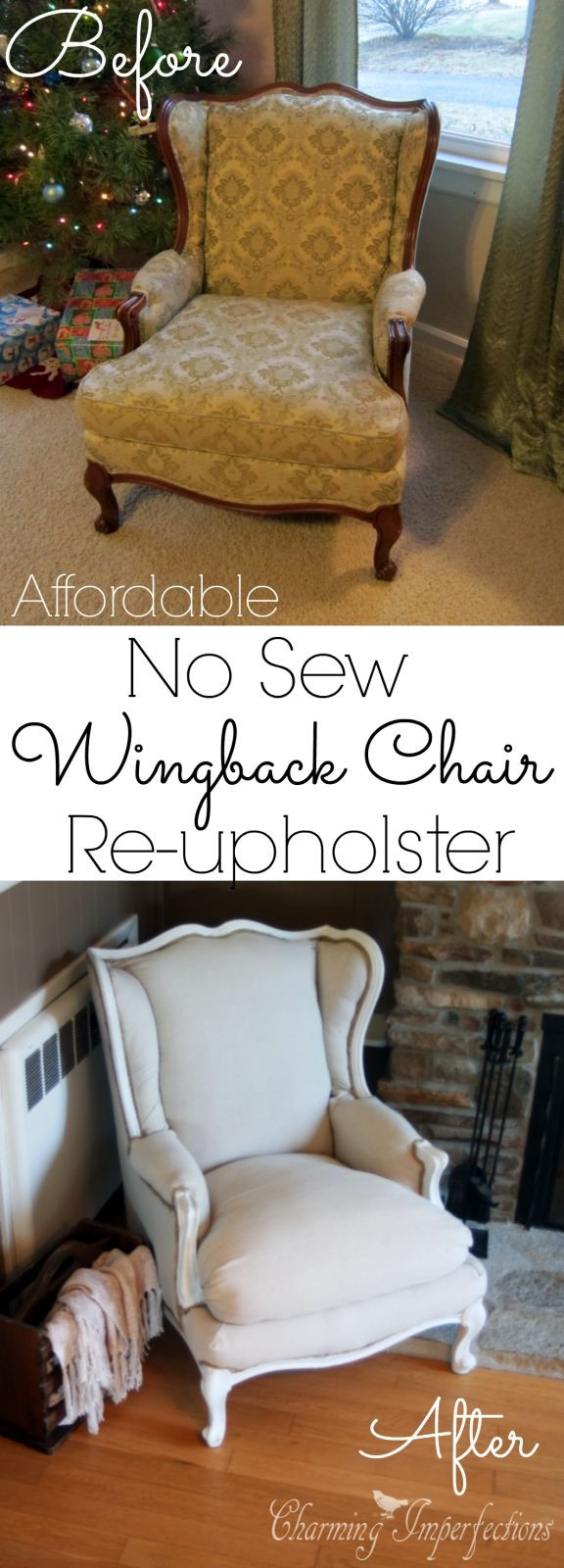 Best ideas about DIY Chair Covers No Sew . Save or Pin s Diy Slipcover No Sew MediasUpload Now.