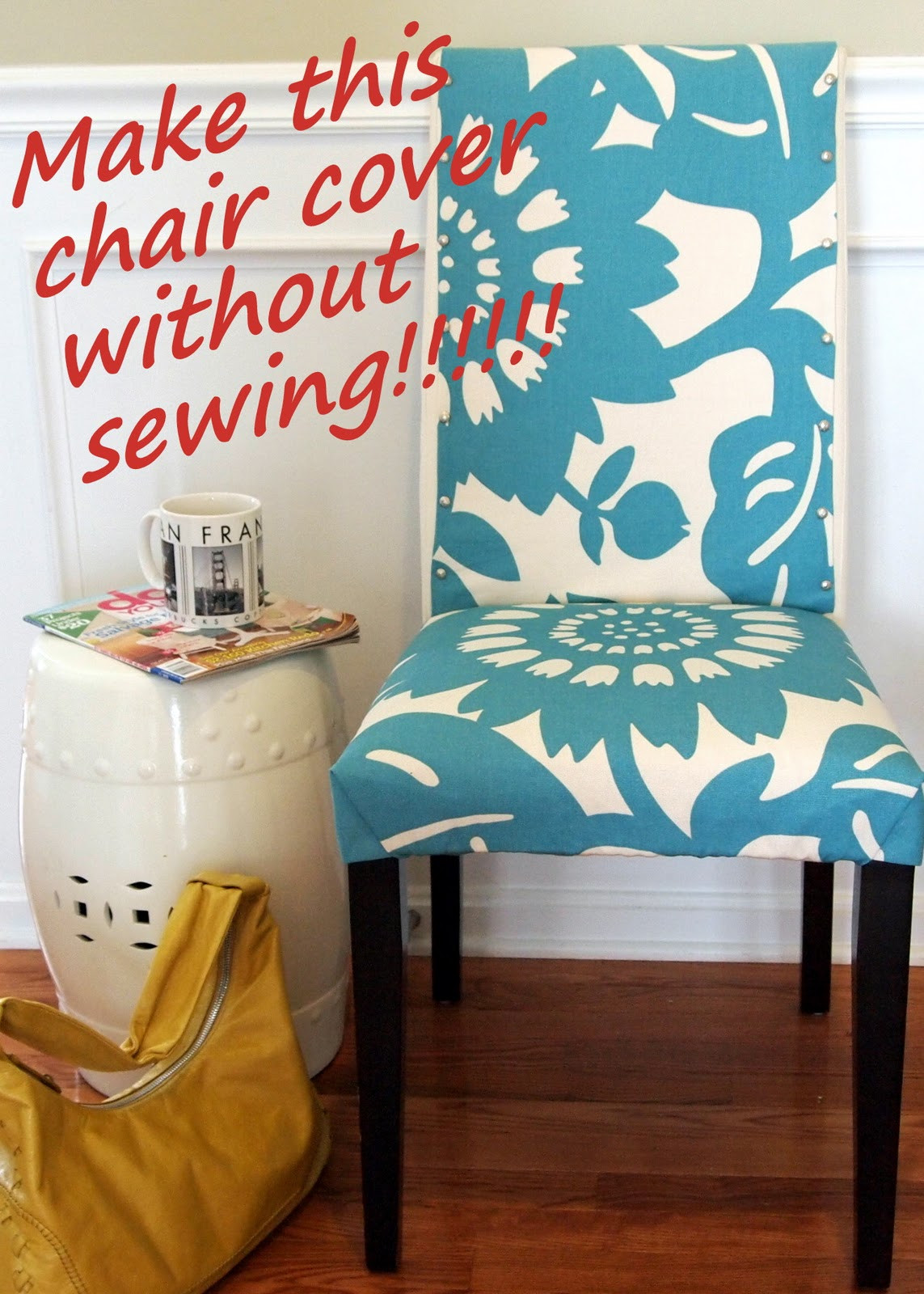 Best ideas about DIY Chair Covers No Sew . Save or Pin CHAIR COVER DINING FABRIC SEW – Chair Pads & Cushions Now.