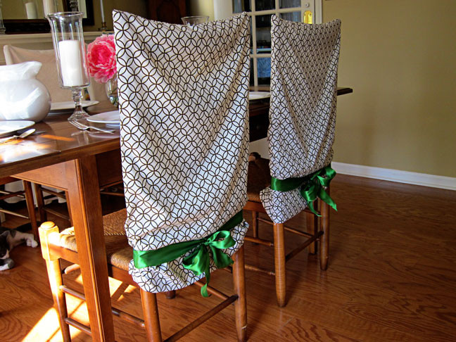 Best ideas about DIY Chair Covers No Sew . Save or Pin No Sew Pillow Case Chair Covers Now.
