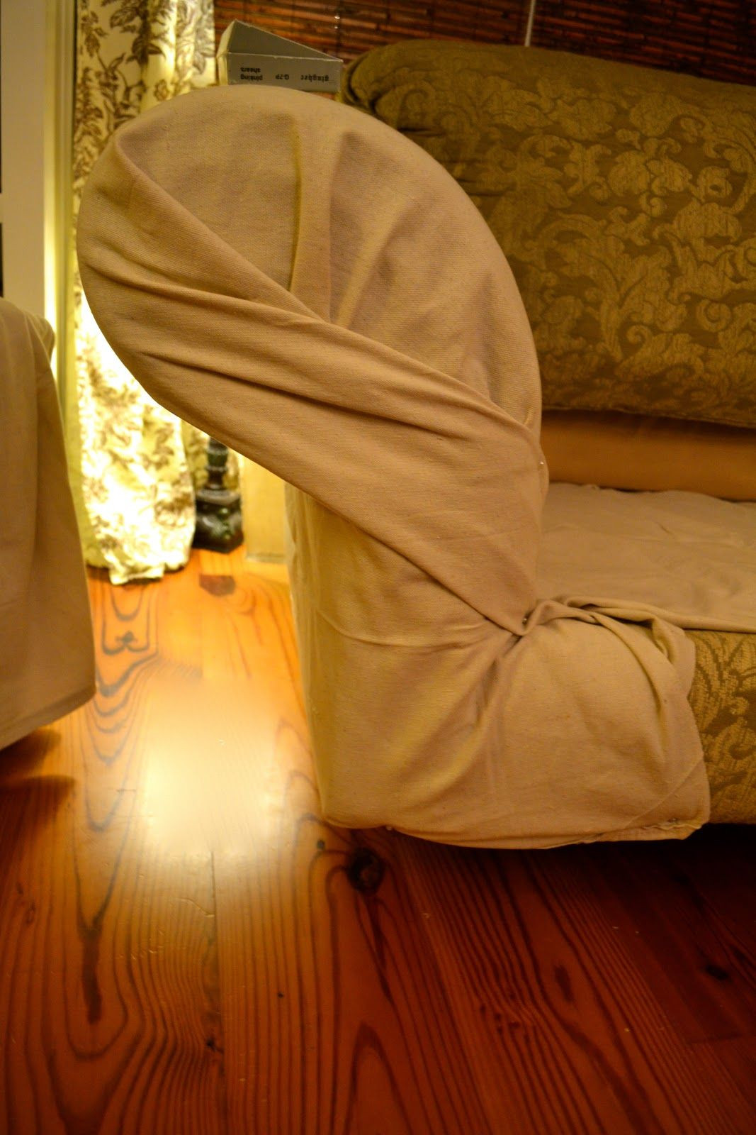 Best ideas about DIY Chair Covers No Sew . Save or Pin EdibleCreativity tuck pin done no sew loveseat Now.