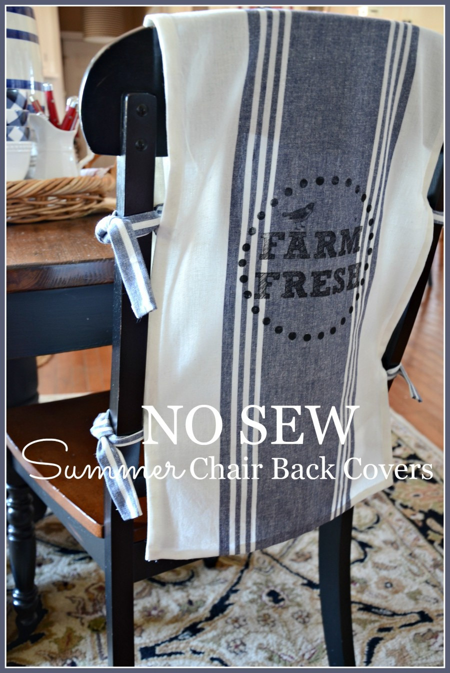 Best ideas about DIY Chair Covers No Sew . Save or Pin NO SEW CHAIR BACK COVERS StoneGable Now.