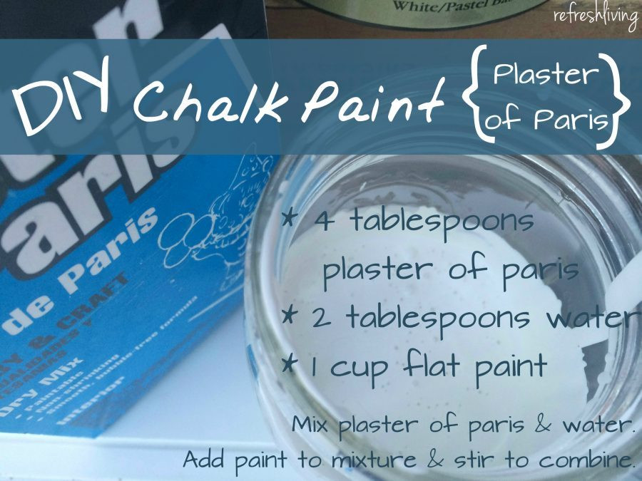 Best ideas about DIY Chalk Paint Plaster Of Paris . Save or Pin The Best DIY Chalk Paint Recipe Refresh Living Now.