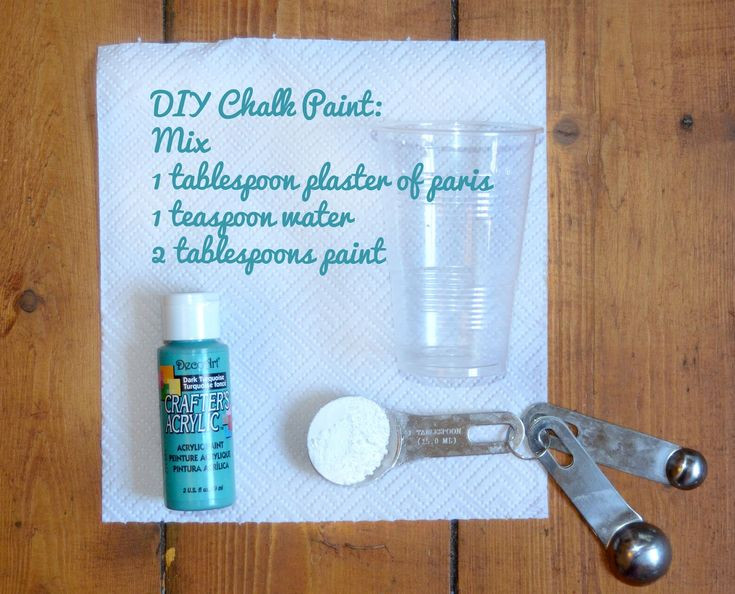 Best ideas about DIY Chalk Paint Plaster Of Paris . Save or Pin DIY Chalk paint with plaster of paris can be made in ANY Now.