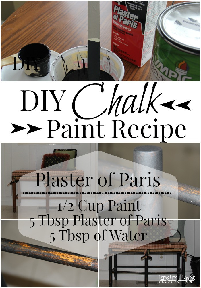 Best ideas about DIY Chalk Paint Plaster Of Paris . Save or Pin Homemade Chalk Paint Recipe Now.