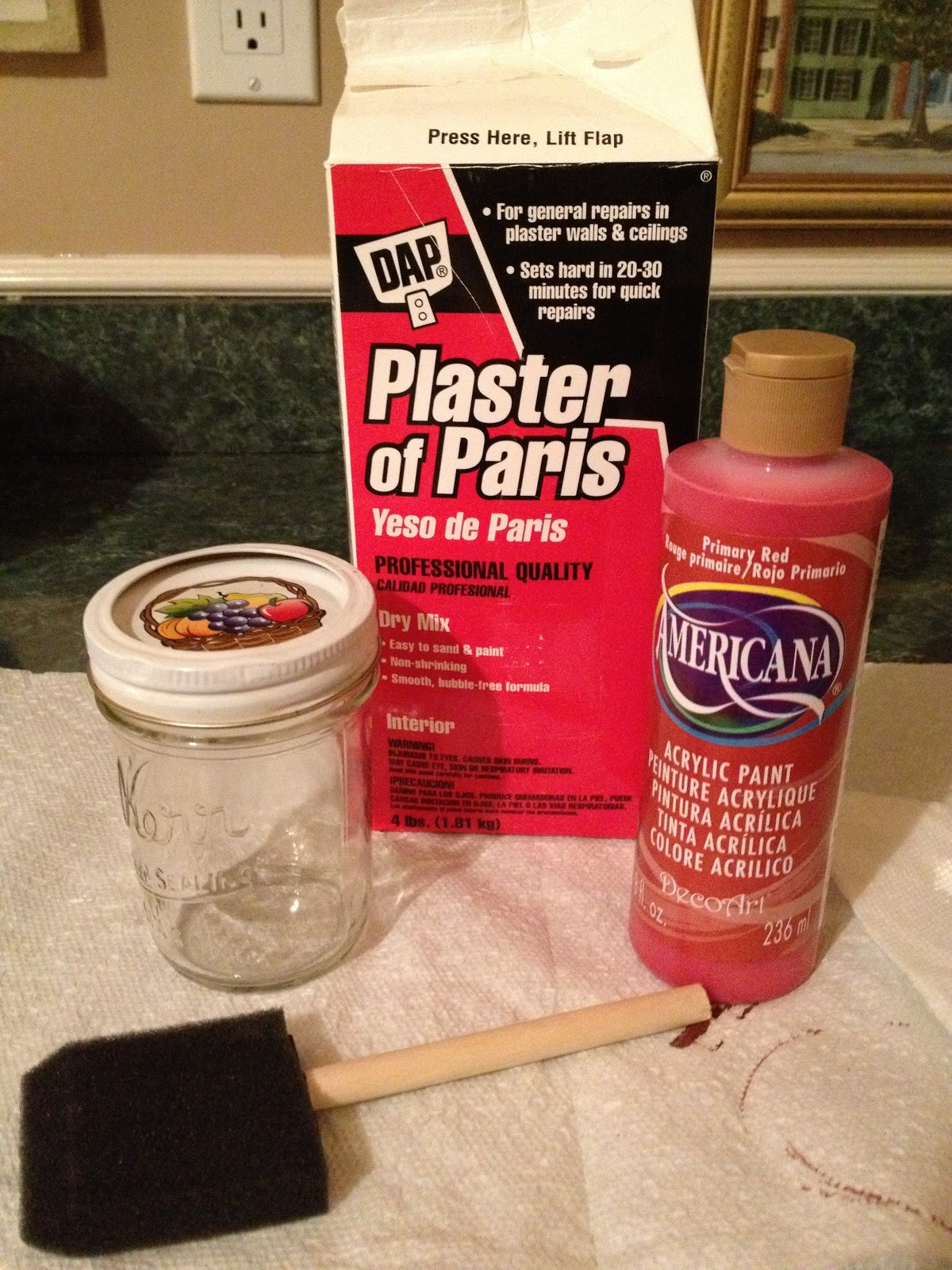 Best ideas about DIY Chalk Paint Plaster Of Paris . Save or Pin Always Something DIY Chalkboard and Chalkboard Paint Now.