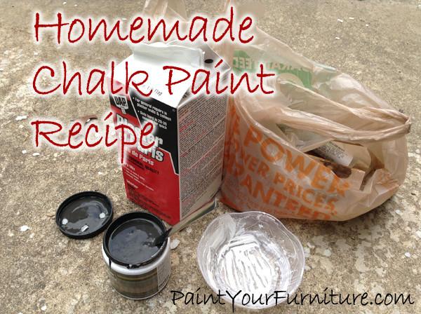Best ideas about DIY Chalk Paint Plaster Of Paris . Save or Pin Homemade Chalk Paint Recipe Plaster of Paris Now.