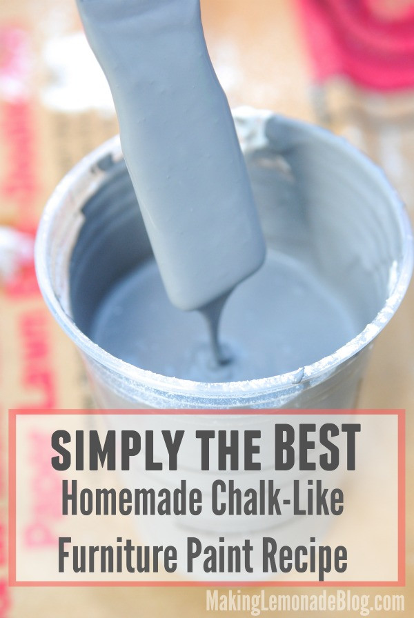 Best ideas about DIY Chalk Paint Recipe . Save or Pin BEST Homemade Chalk Like Paint Recipe Now.