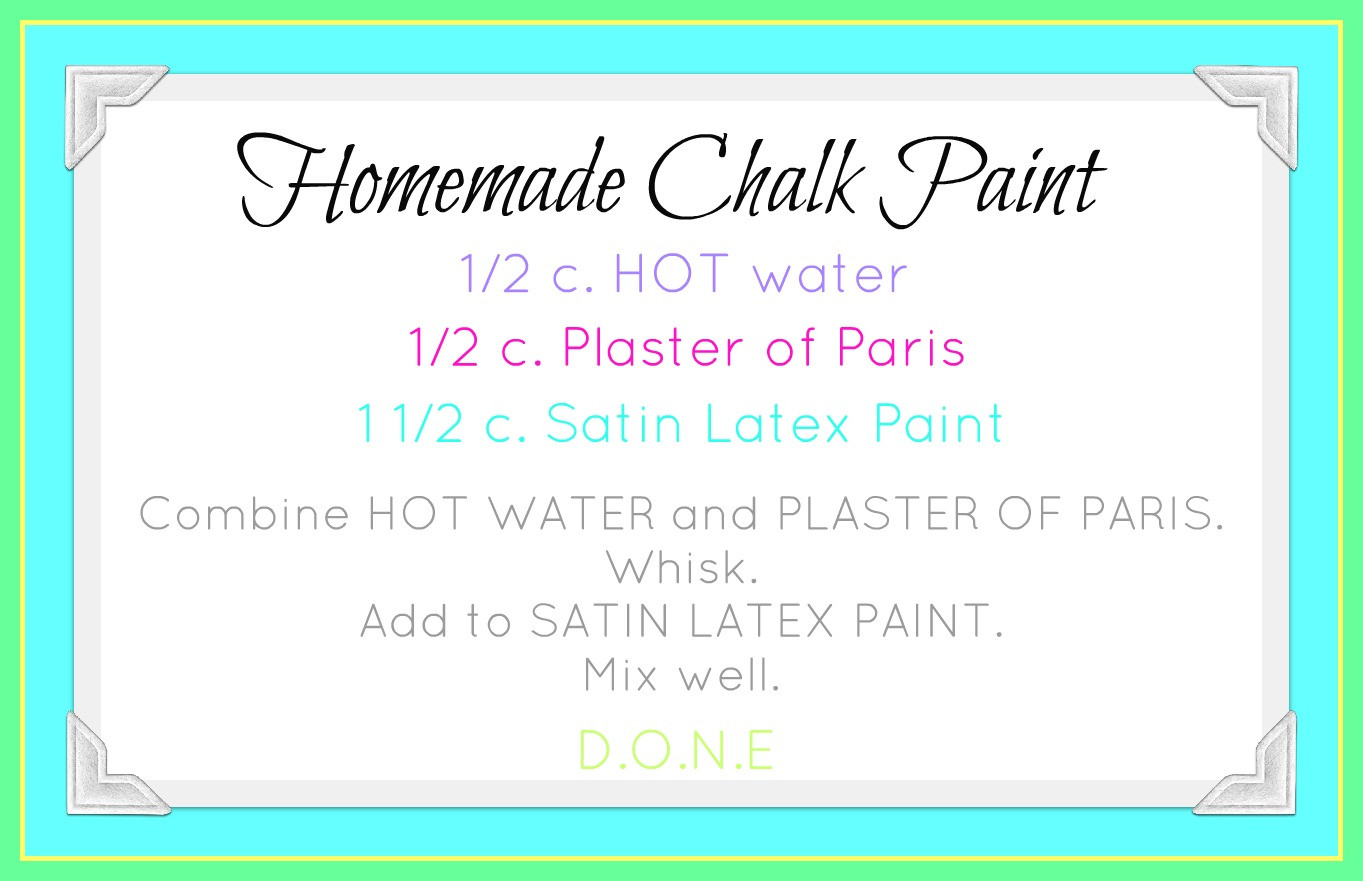 Best ideas about DIY Chalk Paint Recipe . Save or Pin Our Prairie Home Homemade Chalk Paint Recipe Now.