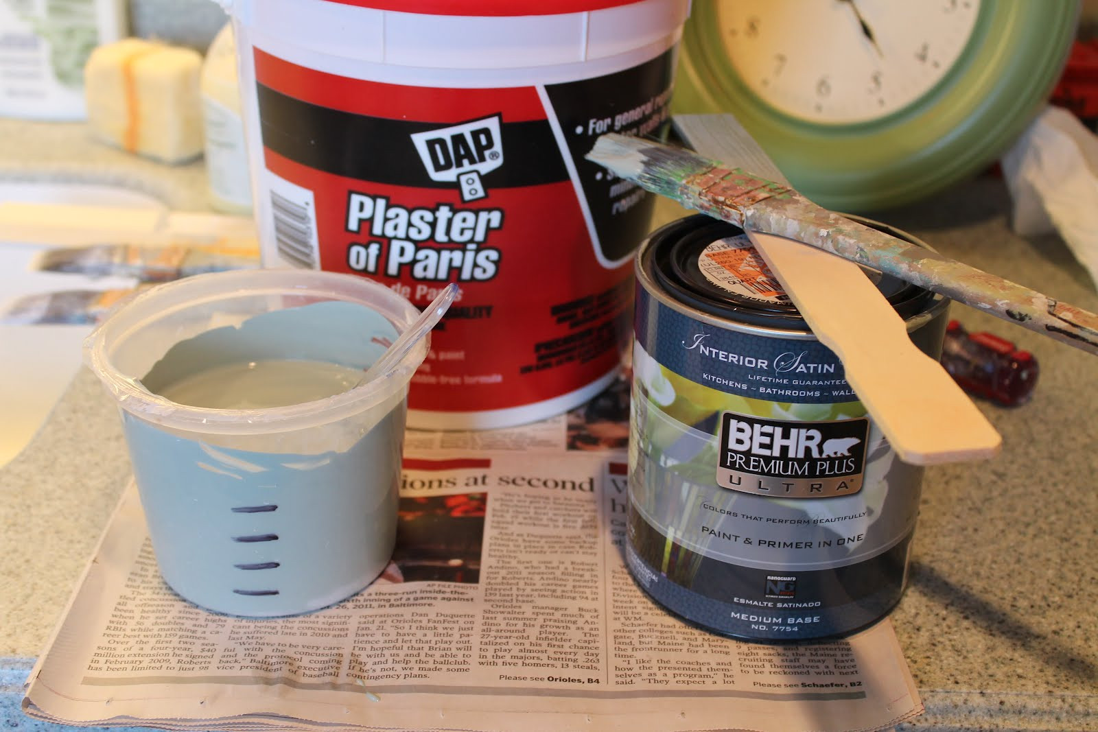 Best ideas about DIY Chalk Paint With Plaster Of Paris . Save or Pin Elizabeth & Co How I Make Chalk Paint Now.