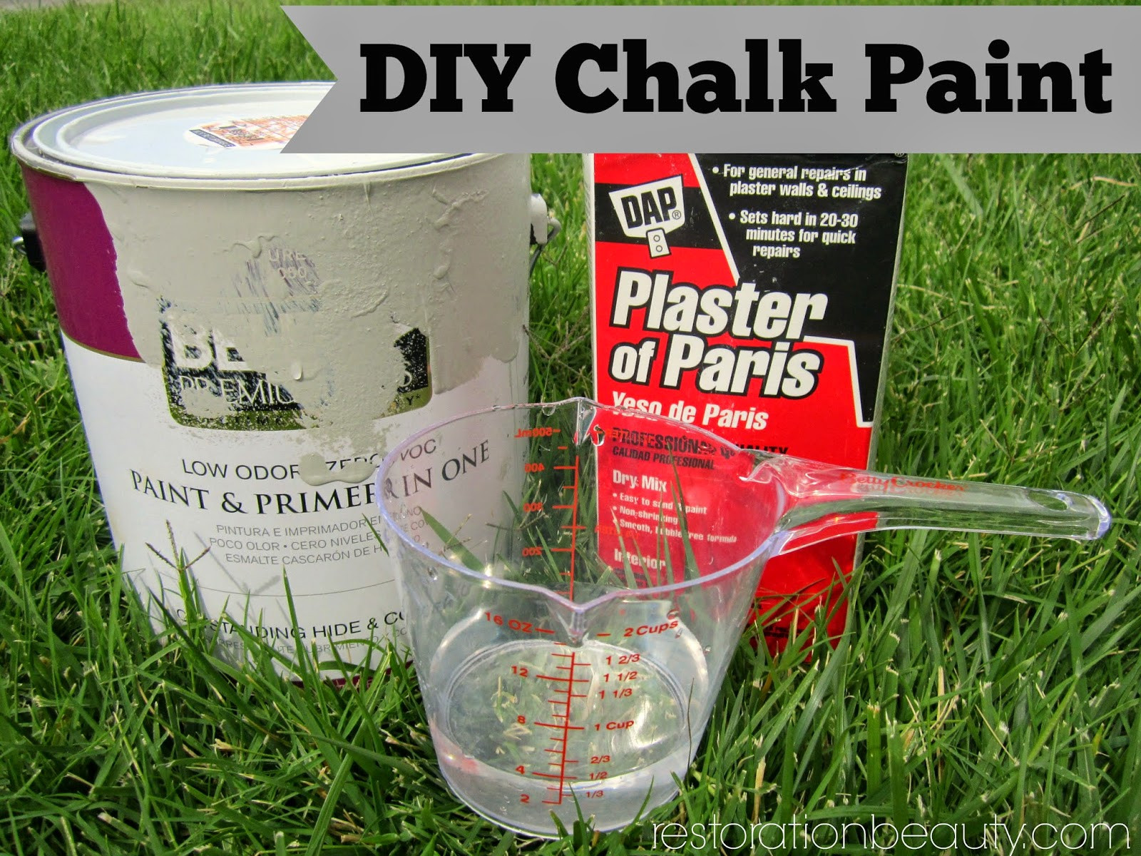 Best ideas about DIY Chalk Paint With Plaster Of Paris . Save or Pin Restoration Beauty End Table Makeover Using DIY Chalk Paint Now.