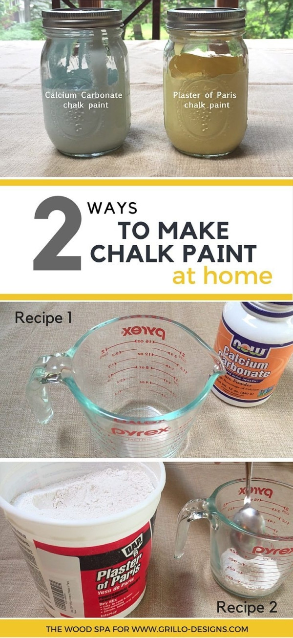 Best ideas about DIY Chalk Paint With Plaster Of Paris . Save or Pin Patricia from the Wood Spa shares 2 ways to make Homemade Now.