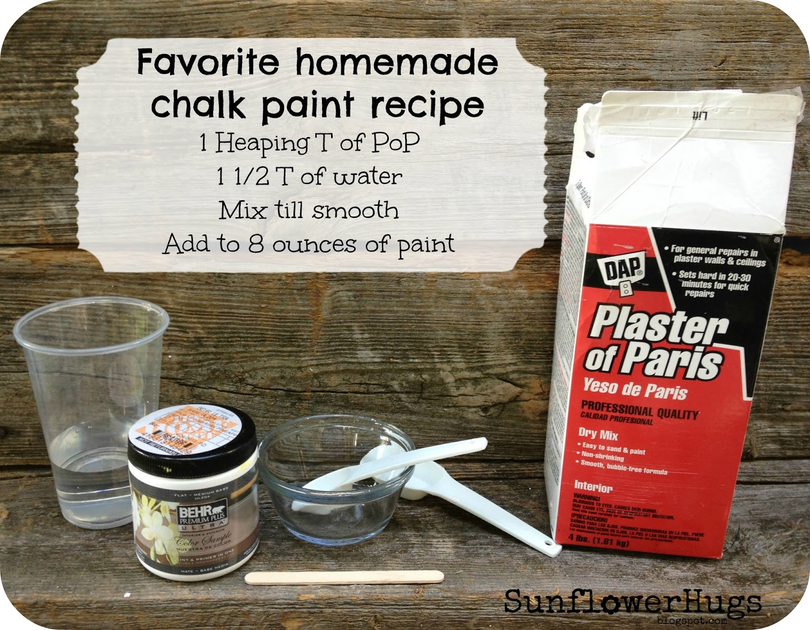 Best ideas about DIY Chalk Paint With Plaster Of Paris . Save or Pin SunflowerHugs My Version of DIY Chalk Paint Now.