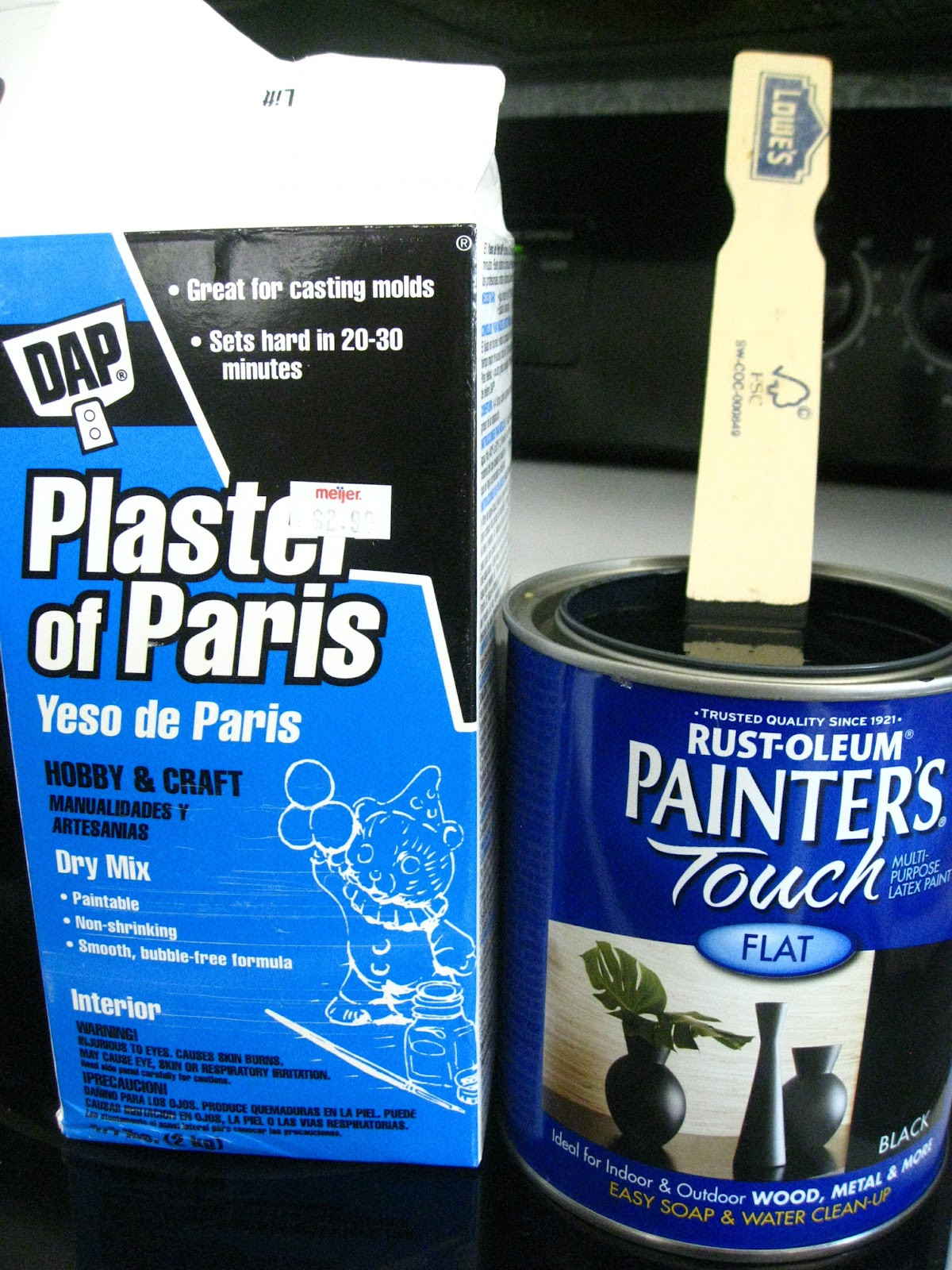 Best ideas about DIY Chalk Paint With Plaster Of Paris . Save or Pin Kammy s Korner A little garage sale find a little DIY Now.
