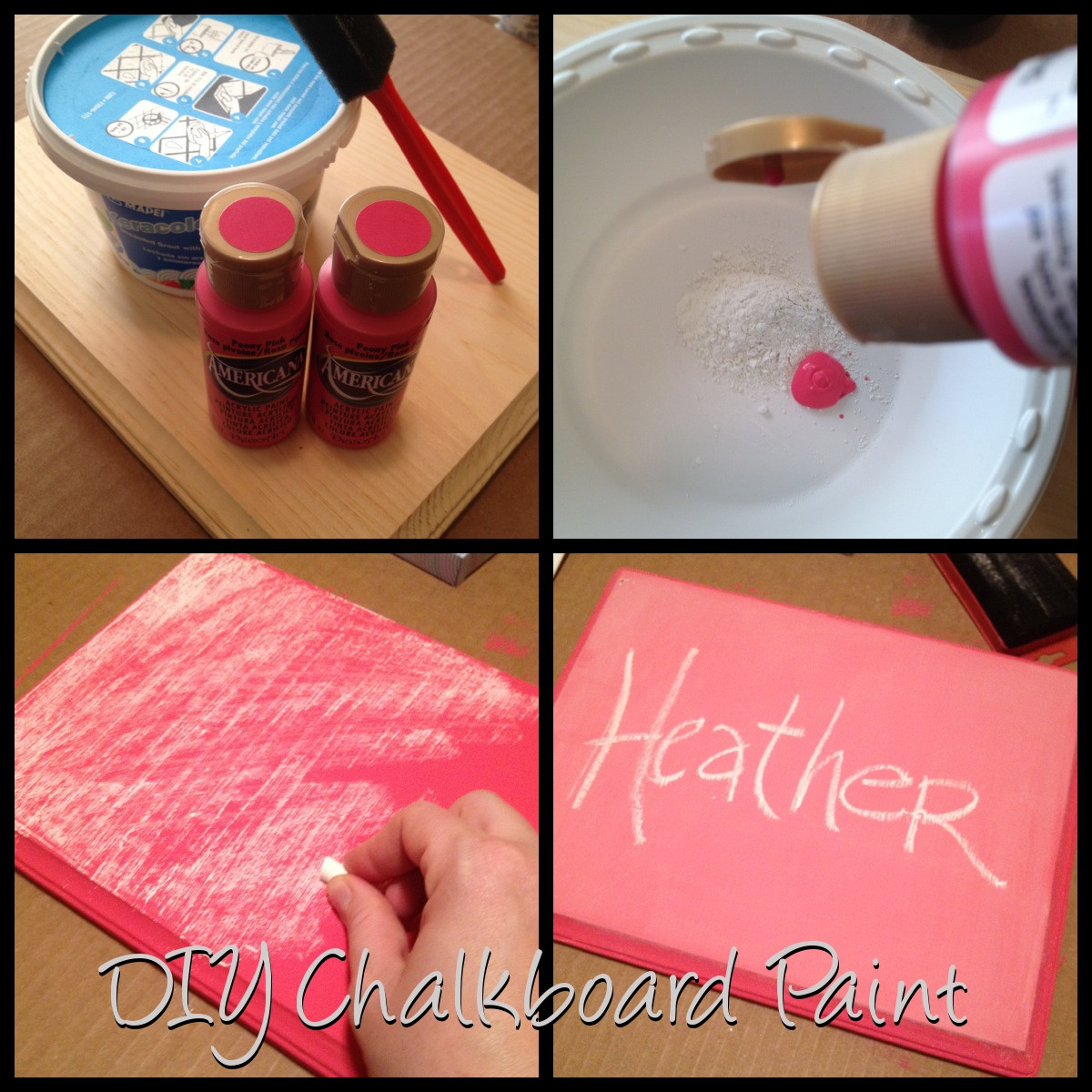 Best ideas about DIY Chalkboard Paint . Save or Pin DIY Chalkboard Paint 7 52 Now.