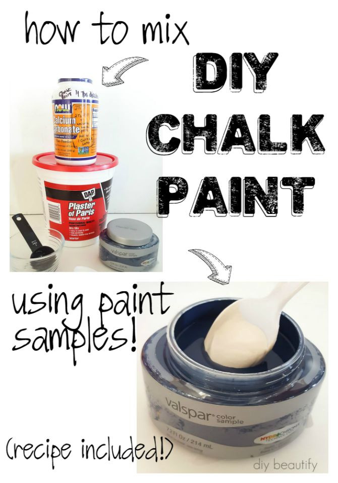 Best ideas about DIY Chalkboard Paint . Save or Pin How to Make DIY Chalk Paint Using Store Samples Now.