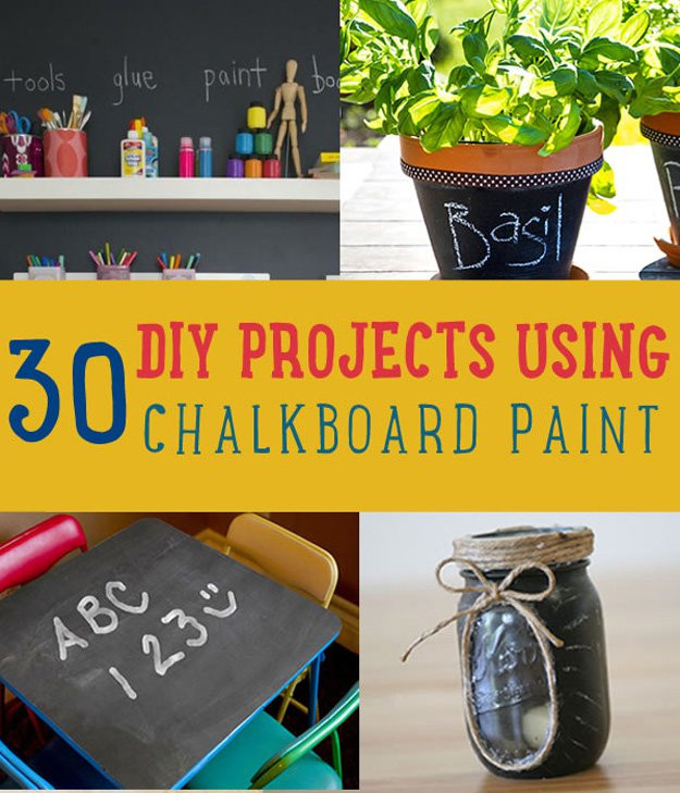 Best ideas about DIY Chalkboard Paint . Save or Pin Uses for Chalkboard Paint DIY Projects Craft Ideas & How Now.