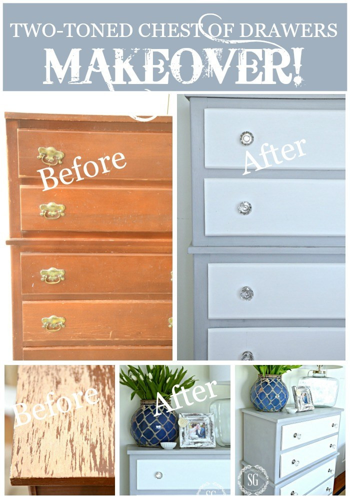 Best ideas about DIY Chest Of Drawers . Save or Pin TWO TONED PARIS GREY AND WHITE DRESSER DIY StoneGable Now.