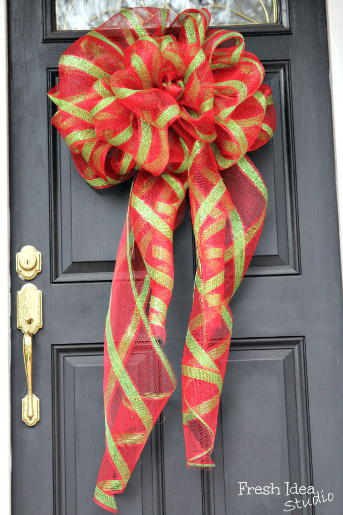 Best ideas about DIY Christmas Bow . Save or Pin DIY Painter's Drop Cloth & Burlap Ruffled Tree Skirt Now.