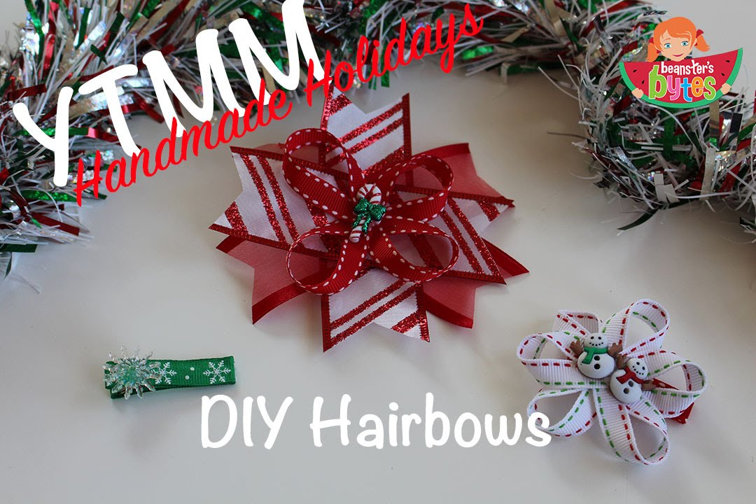 Best ideas about DIY Christmas Bow . Save or Pin YTMM Homemade Holidays DIY Christmas Hair Bows Now.