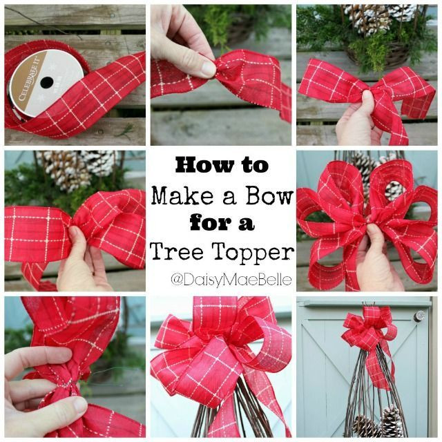 Best ideas about DIY Christmas Bow . Save or Pin DIY Tree Topper Bow s and for Now.