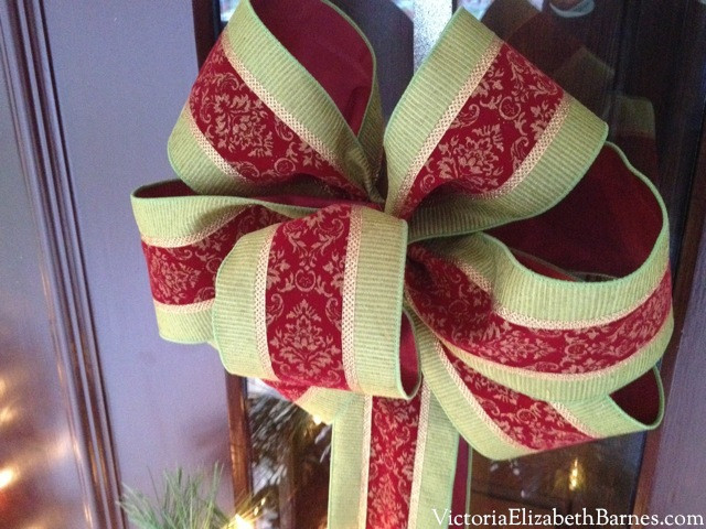 Best ideas about DIY Christmas Bow . Save or Pin Our Victorian front porch decorated for Christmas & a DIY Now.