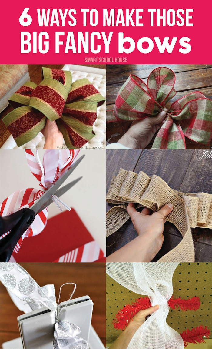 Best ideas about DIY Christmas Bow . Save or Pin How to Make Christmas Bows Now.