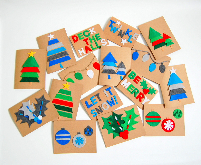 Best ideas about DIY Christmas Cards . Save or Pin DIY Felt Christmas Cards northstory Now.