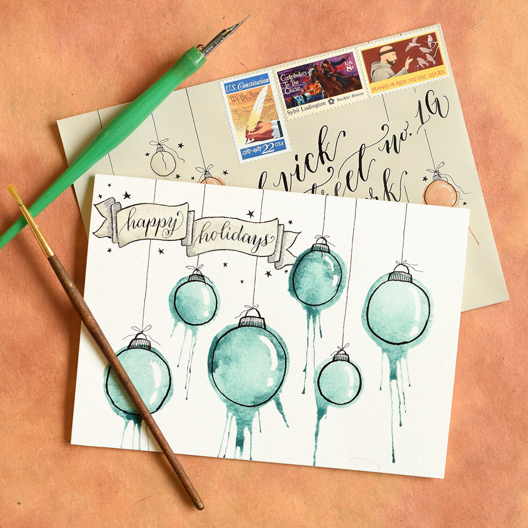 Best ideas about DIY Christmas Cards . Save or Pin Artistic Ornaments Themed DIY Christmas Card Tutorial Now.