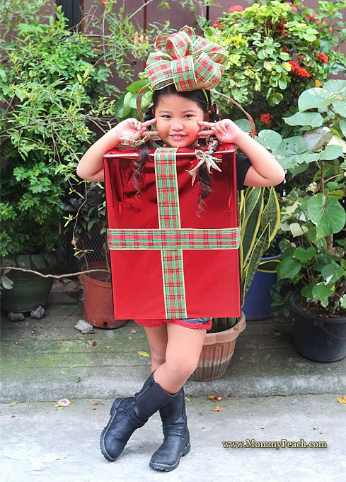 Best ideas about DIY Christmas Costumes . Save or Pin DIY Christmas Present Costume Mommy Peach Now.