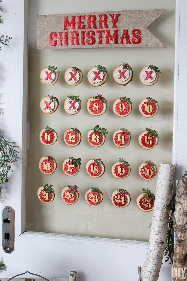 Best ideas about DIY Christmas Countdown . Save or Pin Glass Mounted Christmas Countdown The DIY Dreamer Now.