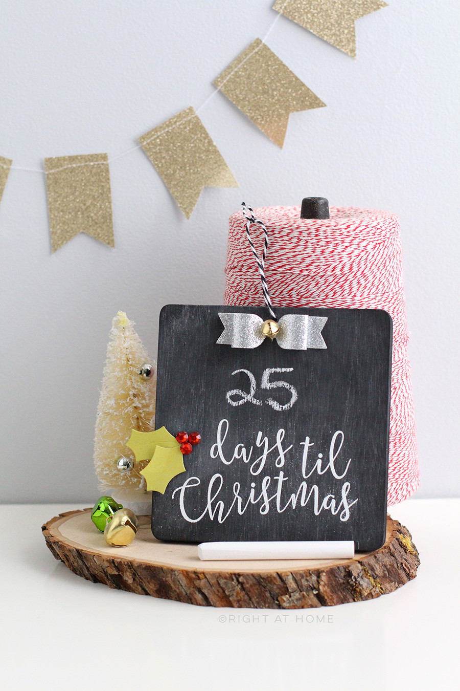 Best ideas about DIY Christmas Countdown . Save or Pin DIY Christmas Countdown Chalkboard Ornament Now.