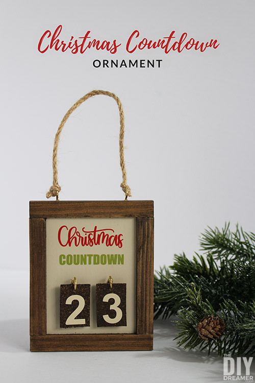 Best ideas about DIY Christmas Countdown . Save or Pin Christmas Countdown Ornament Days till Christmas Now.