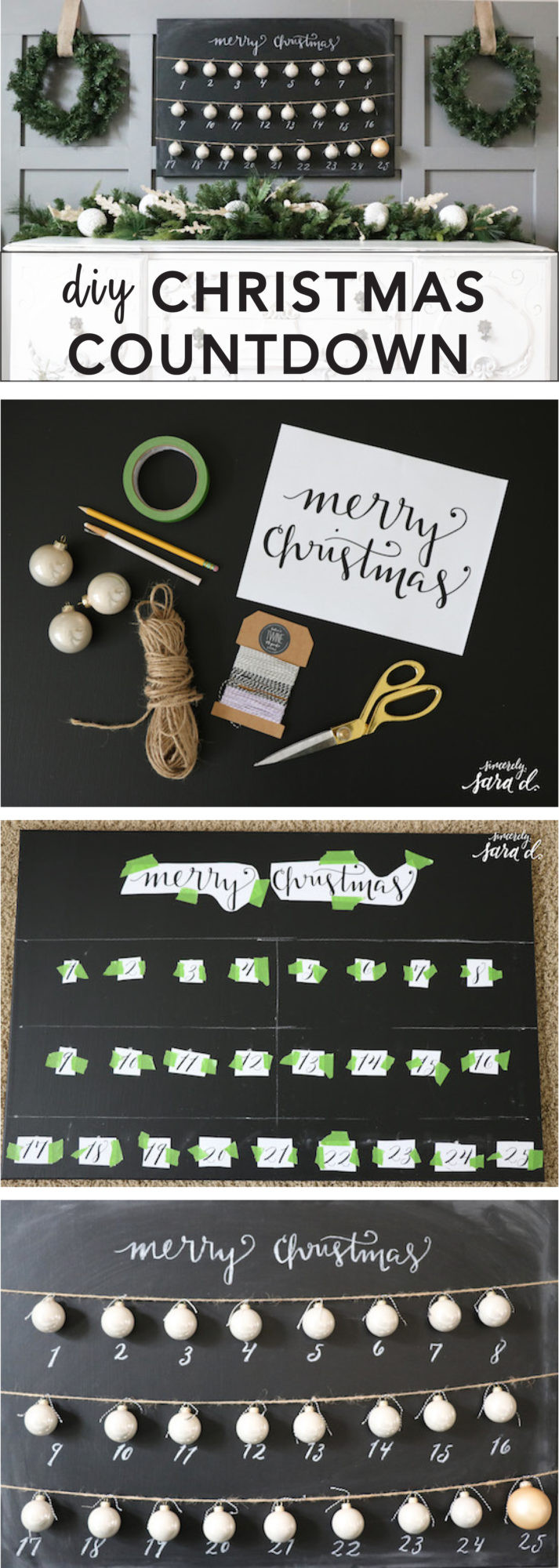 Best ideas about DIY Christmas Countdown . Save or Pin DIY Chalkboard Christmas Countdown Now.