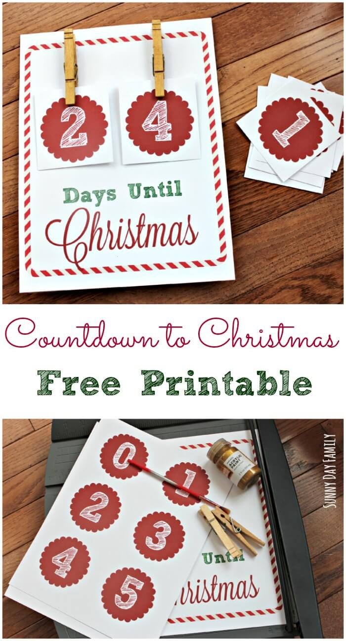 Best ideas about DIY Christmas Countdown . Save or Pin How Many Days Until Christmas Free Christmas Countdown Now.
