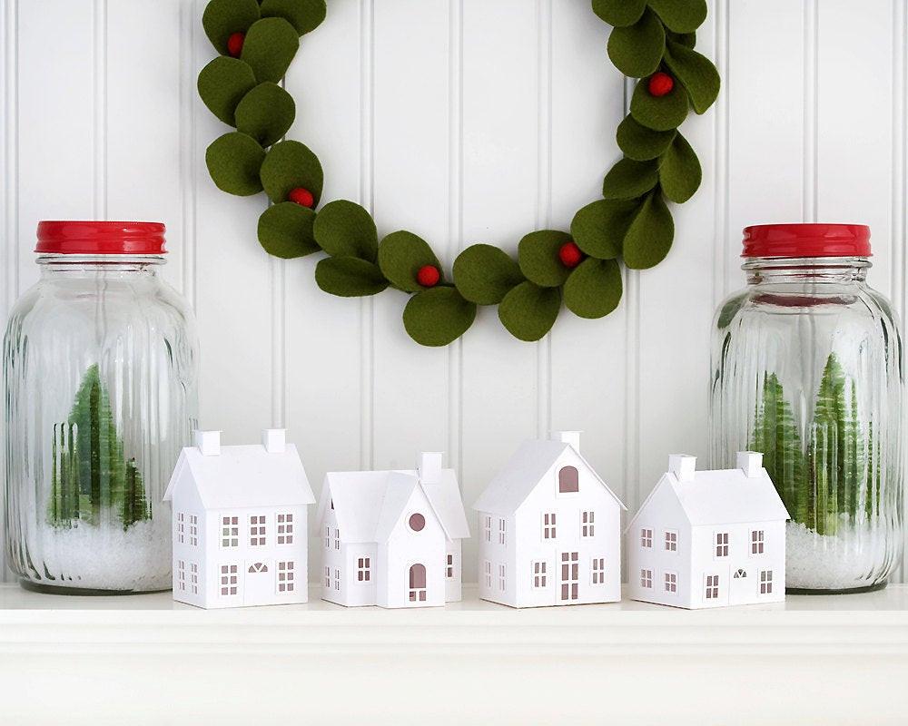 Best ideas about DIY Christmas Decor . Save or Pin DIY Putz Village Christmas Decorations DIY Christmas Putz Now.