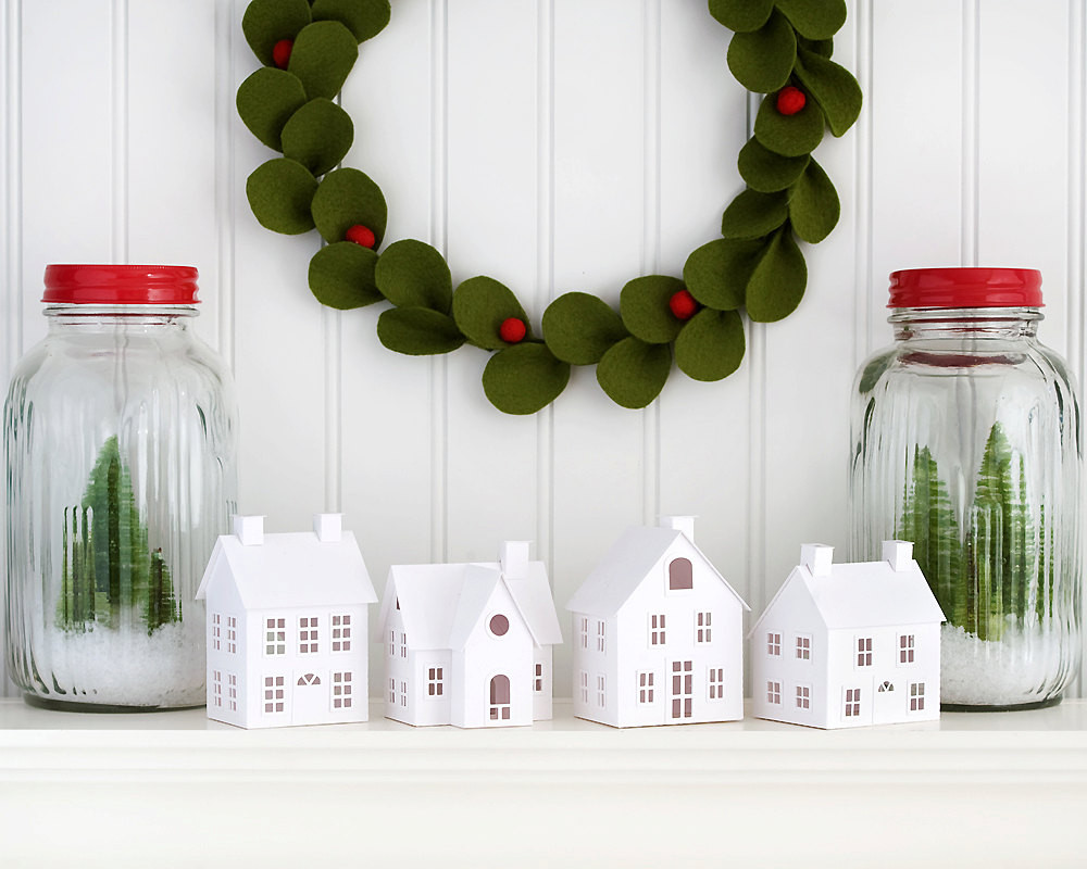 Best ideas about DIY Christmas Decor Ideas . Save or Pin DIY Putz Village Christmas Decorations DIY Christmas Putz Now.