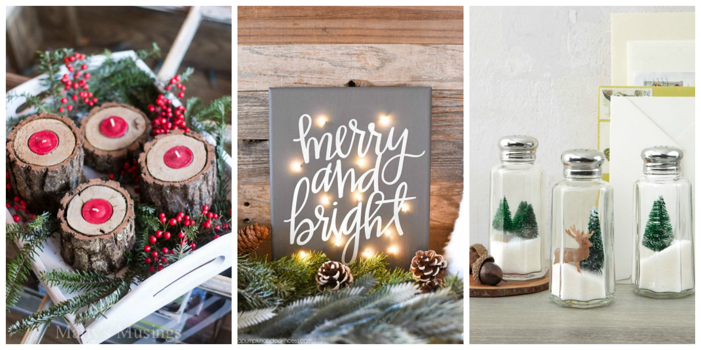 Best ideas about DIY Christmas Decor Ideas . Save or Pin 35 DIY Homemade Christmas Decorations Christmas Decor Now.